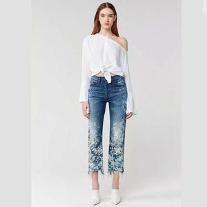 NWT! 3x1 High-Rise Slim Straight Boyfriend Jeans